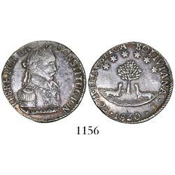 Potosi, Bolivia, 2 soles, 1830J.