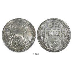 Brazil (Minas Gerais), 960 reis counterstamp (1808-10) on a Potosi, Bolivia, bust 8 reales, Charles