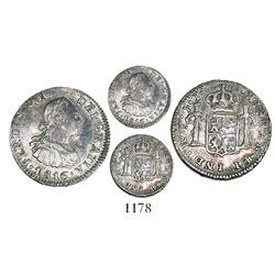 Santiago, Chile bust 1/2 real, Ferdinand VII, 1816FJ.