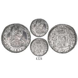 Bogota, Colombia, bust 1 real, Ferdinand VII (Charles IV), 1819FJ, inverted J.