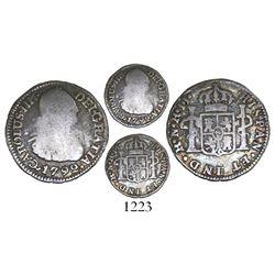 Bogota, Colombia, bust 1/2 real, Charles IV, 1792JJ, rare.