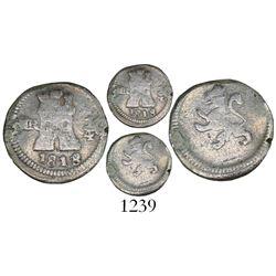 Bogota, Colombia, 1/4 real, 1818/7, rare.