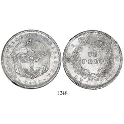 Bogota, Colombia, 1 peso, 1860.