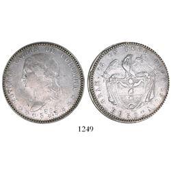 Bogota, Colombia, 1 peso, 1868, rare.
