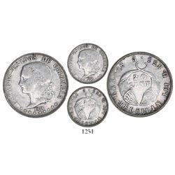 Medellin, Colombia, 20 centavos, 1874, GRAMOS variety, very rare, Restrepo Plate Coin.
