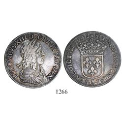 France (Paris mint), 1/2 ecu, Louis XIII, 1643-A.