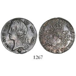 France (Paris mint), 1/5 ecu (24 sols), Louis XV, 1765-A.