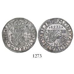 Nordlingen, German States, 1 batzen, 1531.