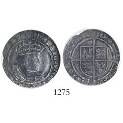 London, England, groat (fourpence), Henry VIII (Laker bust), second coinage, mintmark lis (1526-32),