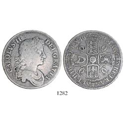 London, England, crown, Charles II, 1672.