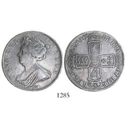 Great Britain (London, England), half crown, Anne, 1703, with VIGO below bust.