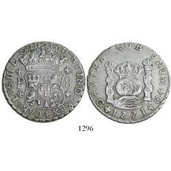 Guatemala, pillar 8 reales, Charles III, 1771P.