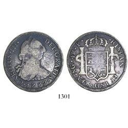 Guatemala, bust 4 reales, Charles III, 1779P.