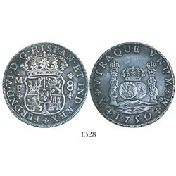 Mexico City, Mexico, pillar 8 reales, Ferdinand VI, 1750MF.