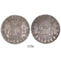 Mexico City, Mexico, pillar 4 reales, Charles III, 1761MM.