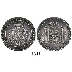 Oaxaca, Mexico, 2 reales proclamation medal, Ferdinand VII, 1808.