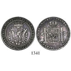 Oaxaca, Mexico, 2 reales proclamation medal, Ferdinand VII, 1808.