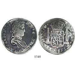 Zacatecas, Mexico, bust 8 reales, Ferdinand VII, 1820RG.
