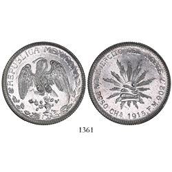 Chihuahua, Mexico, 1 peso, 1915FM, rare.