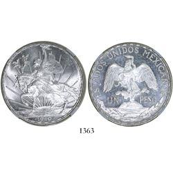 """Mexico City, Mexico, 1 peso, 1910, """"Caballito,"""" encapsulated NGC MS 64."""