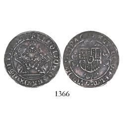 Brabant, Habsburg Netherlands (Antwerp mint), double briquet, Charles the Rash (1467-77).