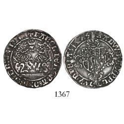Brabant, Habsburg Netherlands (Antwerp mint), double briquet, Charles the Rash (1467-77).