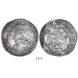 """Holland, Netherlands, """"lion"""" daalder, 1589."""