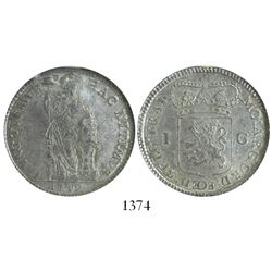Utrecht, Netherlands, 1 gulden, 1749, encapsulated NGC MS 63.