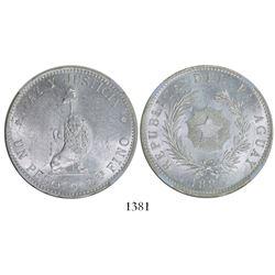Paraguay, 1 peso, 1889, encapsulated NGC MS 61.