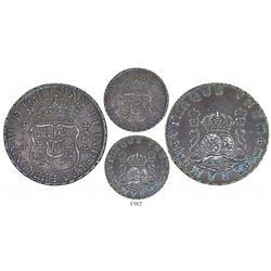 Lima, Peru, pillar 8 reales, Ferdinand VI, 1752J, rare, ex-Sellschopp.