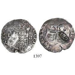 "Portugal, 120 reis, ""120"" countermark (1642), Joao IV, on a Lisbon, Portugal, Philip II or III tosta"