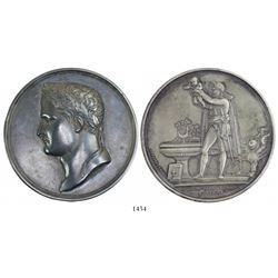 France, large silver medal, Napoleon, 1811, Baptism of the King of Rome, by Bertrand Andrieu.