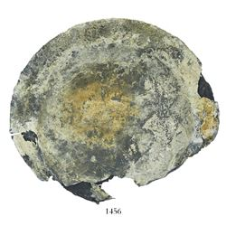 Encrusted silver plate. Atocha, sunk in 1622 west of Key West, Florida