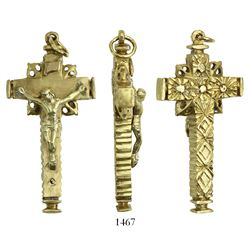 Ornate gold crucifix, small but heavy. Spanish 1715 Fleet, east coast of Florida