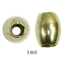Small, oval gold bead. Spanish 1715 Fleet, east coast of Florida
