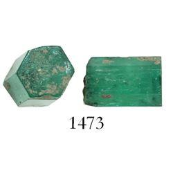 Natural emerald, 2.5 carats. Spanish 1715 Fleet, east coast of Florida