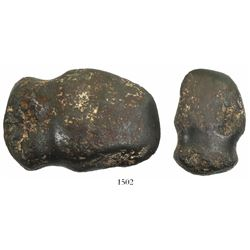 South American native axe head made from iron meteorite (approx. 5000-10,000 years old), very rare.