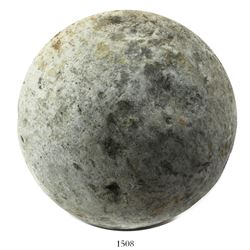 Large stone cannonball from the 1588 Spanish Armada found by commercial fishermen off the coast of D