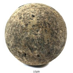 Stone cannonball from a 1588 Spanish Armada site off the Netherlands.