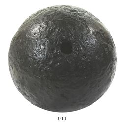 "British ""24-pounder"" mortar shell from a battlefield in Savannah, Georgia, American Revolutionary Wa"