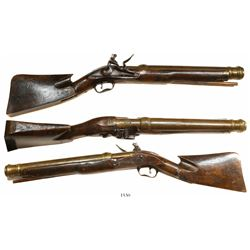 Dutch Admiralty flintlock blunderbuss, ca. 1720, very rare and important.