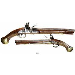 British naval flintlock boarding pistol, early 1800s.