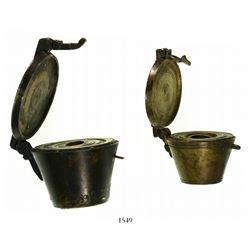 Lot of two bronze nested weight sets (probably German, 1500s-1600s).