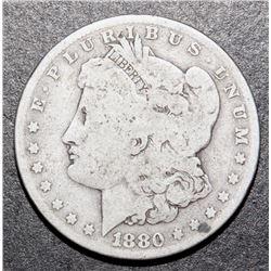 1880-O Morgan Silver Dollar US $1 Coin