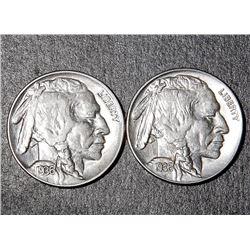 2 Gem Uncirculated 1936 Buffalo Nickels Coins