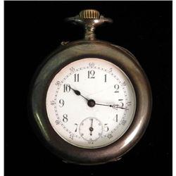 Antique Pocket Watch Inscribed L Dauer 80% sILVER.