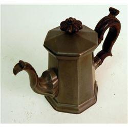 Antique Pewter Bachelor Mini Coffee Pot England c. 1835