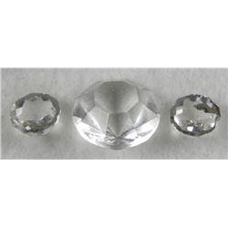 3 Zircon Gemstones Gems 19 mm Round Cut
