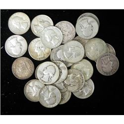 26 Dates Washington Silver Quarters 1934-1964 All Nice