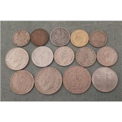 15 Old Coins Spain, Italy & Portugal